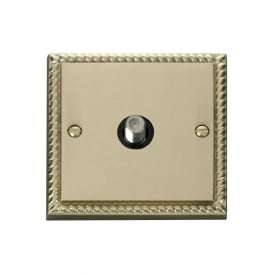 Georgian Cast Brass GCBR156 Non-Isolated Single Satellite Socket