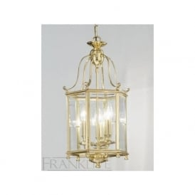 LA7006/3 Montpelier 3 Light Ceiling Lantern Polished Brass