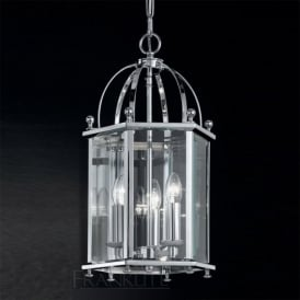 LA7008/3 Madison 3 Light Ceiling Lantern Polished Chrome