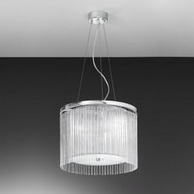 FL2191/3 Eros 3 Light Ceiling Pendant Polished Chrome