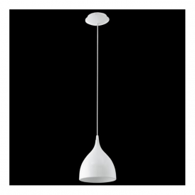 92716 Coretto 1 Light Pendant White Steel