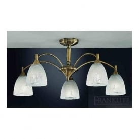 FL2105/5 Emmy 5 Light Ceiling Light Bronze