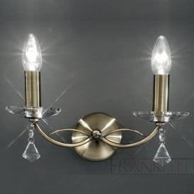 FL2228/2 Monaco 2 Light Crystal Wall Light Bronze