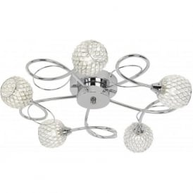 AHERNE-5CH Aherne 5 Light Ceiling Light Polished Chrome