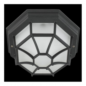 5389 Laterna7 1 Light Outdoor Flush Ceiling/Wall Light Black IP54