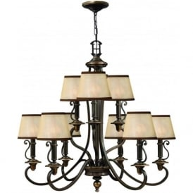 Hinkley HK/PLYMOUTH9 Plymouth 9 Light Ceiling Light Olde Bronze