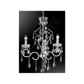 FL2188/3 Chiffon 3 Light Crystal Ceiling Light Polished Chrome