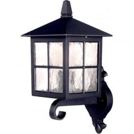 BL17 Winchester 1 Light Outdoor Wall Light Lantern Black IP44