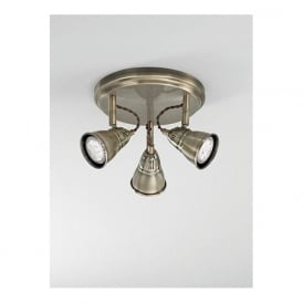 SPOT8953 Rustica 3 Light LED Ceiling Spotlight Bronze