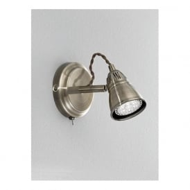 SPOT8951 Rustica 1 Light LED Switched Wall Spotlight Bronze