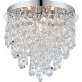 61233 Kristen 3 Light Flush Ceilling Light IP44 Polished Chrome