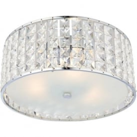 61252 Belfont 3 Light Flush Ceilling Light IP44 Polished Chrome