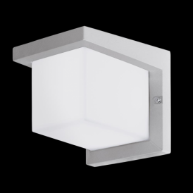 95096 Desella1 LED Outdoor Wall Light Silver-Grey IP44