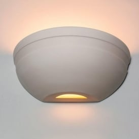 0350MAR Marske 1 Light Gypsum Wall Light Marble Finish