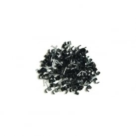 LGA Selectric C213 Round 7.0mm cable clips black pack of 100