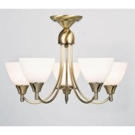 1805-5AN Alton 5 Light Ceiling Light Antique Brass