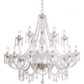 KAT1850 Katie 18 light modern acrylic and crystal ceiling chandelier