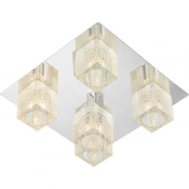 OSW5450 Oswald modern 5 light ceiling flush polished chrome finish