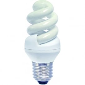CFL mini spiral low energy ES/E27 warm white bulb