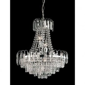 96826-CH Amadis 6 Light Chandelier Chrome