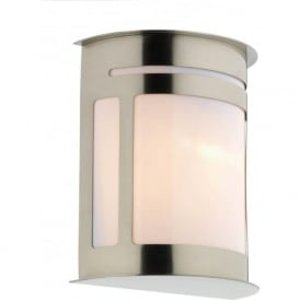 ALU1644 Alumni 1 Light Outdoor Wall Light Stainless Steel IP44