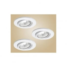 5464 Einbauspot 12V recessed downlight white finish (adjustable) set of 3