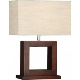 9000 Cosmopolitan 1 Light Table Lamp Wood