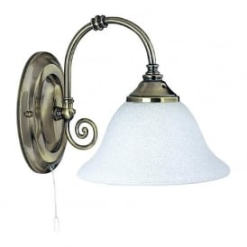 9351-1 Virginia 1 Light Wall Light Antique Brass