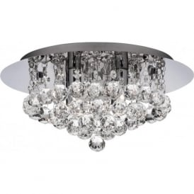 3404-4CC Hanna 4 Light Semi-Flush Ceiling Light Polished Chrome