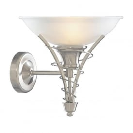 5227SS Linea 1 Light Wall Light Satin Silver