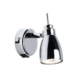 HOU0750 Houston 1 Lght Switched Wall Spotlight Polished Chrome