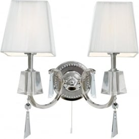 6882-2CC Portico 2 Light Switched Wall Light Polished Chrome
