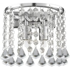 3302-2CC Hanna 2 Light Wall Light Polished Chrome