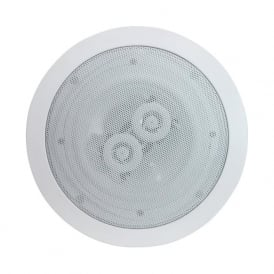 Audio6 OCE6-8 White 6.5 Inch 120 Watt Dual 8 Ohm Ceiling Speaker Single
