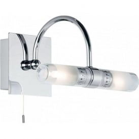 447 Shore 2 Light Switched Bathroom Wall Light Polished Chrome IP44