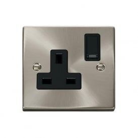 Victorian VP035 1 Gang 13A DP Switched Single Socket