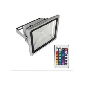OLED20W-FL/RGB 20w RGB LED Flood Light IP65 Remote Colour Changing