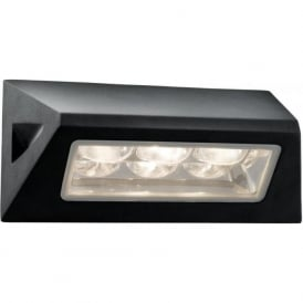 5513BK 3 Light Outdoor Wall Light Black IP44