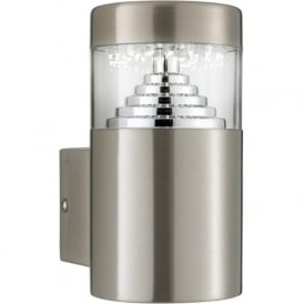 7508 Outdoor LED Wall Light Brushed Chrome IP44