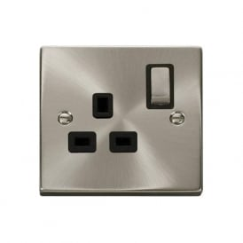 Victorian VP535 1 Gang 13A DP Ingot Switched Single Socket