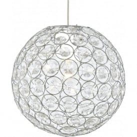 4145CL Bellis II Ceiling Pendant Polished Chrome Acrylic