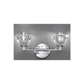 FL2162/2 Twista 2 Light Crystal Wall Light Polished Chrome