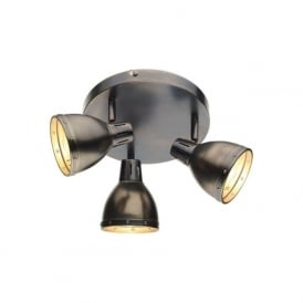 OSA7661 Osaka 3 Light Ceiling Spotlight Antique Chrome