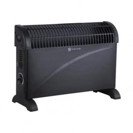 OH2K/5B 2000w / 2Kw Thermostatic Controlled Convector Heater Wall & Free Standing Black