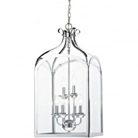 SEN0650 Senator 6 Light Lantern Pendant Polished Chrome