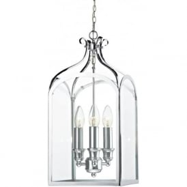 SEN0350 Senator 3 Light Lantern Pendant Polished Chrome