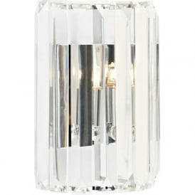 SKE0750 Sketch 1 Light Switched Crystal Wall Light Polished Chrome
