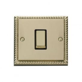 Georgian Cast Brass GCBR425 1 Gang 2 Way Intermediate Ingot Single Light Switch