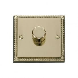 Georgian Cast Brass GCBR140 1 Gang 2 Way 400W Single Dimmer Switch