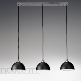 FL2290/3/930 Vetross 3 Light Ceiling Pendant Black/Gold